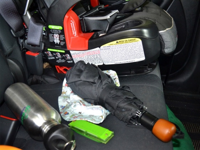 Projectile-Items-in-car-next-to-car-seat