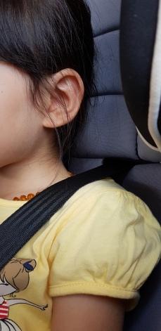 Harness positioned at above shoulder